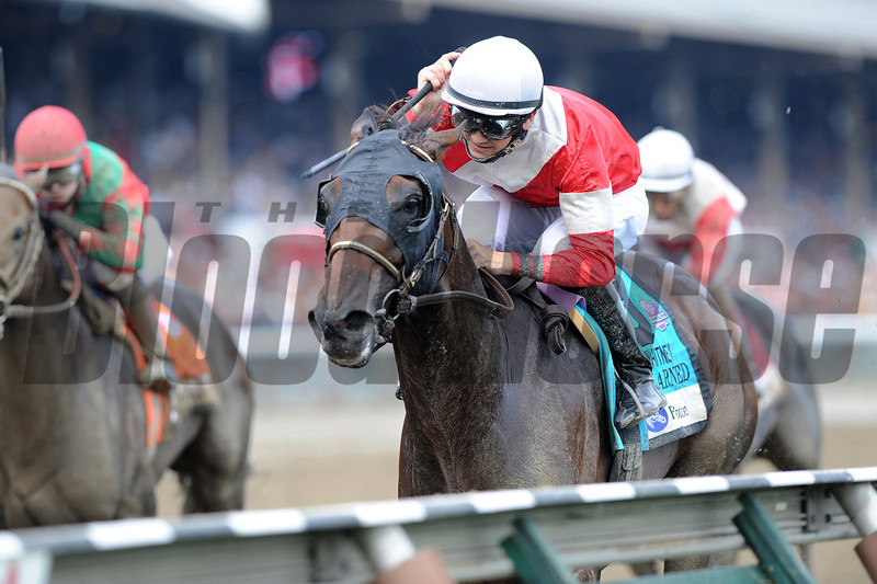 Fort Larned wins the 2012 Whitney.<br /> Photo by Coglianese Photos