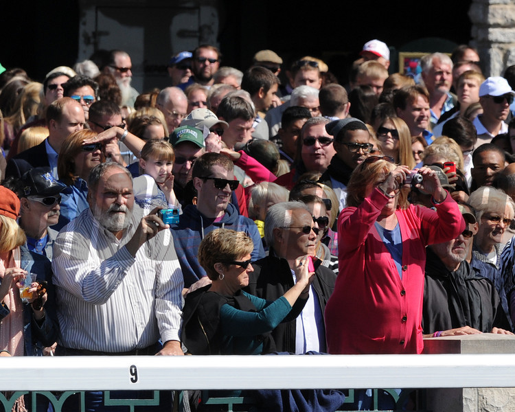 Fans Keeneland Race Track, Lexington, KY 10/6/12 photo by Mathea Kelley
