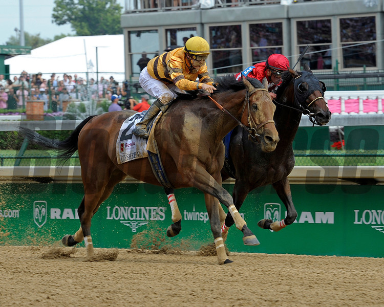 Caption:   Successful Dan with Julien Leparoux up wins the Alysheba (gr. II)<br /> Kentucky Derby and Kentucky Oaks contenders on the track at Churchill Downs near Louisville, Ky. on May 3, 2012.<br /> Alysheba1  image<br /> PHoto by Anne M. Eberhardt