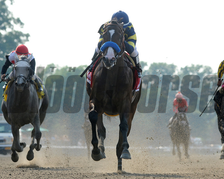 Contested wins The Acorn Stakes<br /> Belmont Park<br /> <br /> Photo by Coglianese Photos