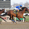 Saginaw wins the 2012 Gravesend Handicap.<br /> Coglianese Photos