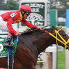 Giant Ryan, Cornelio Velasquez up, the upset winner of the Gr1 Vosburgh Invitational at Belmont.<br /> Rick Samuels Photo