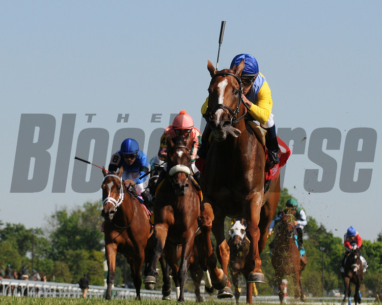 Keeneland Race Course; Lexington; KY 4/19/12 ; DayattheSpa, Javier Castellano up , wins the Appalachian Stakes.<br /> photo by Mathea Kelley