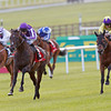 The Irish Derby, The Curragh 30/6/12.<br /> Camelot ( Centre ) ridden by Joseph O'Brien wins from Born To Sea (right) and Light Heavy (left).<br /> Photo by Trevor Jones
