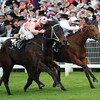 Black Caviar and Luke Nolan win the Diamond Jubilee Stakes at the Royal Ascot on June 23 2012.  <br /> Photo by Mathea Kelley