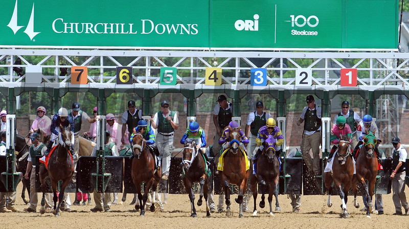 Start of the Gr2 La Troienne at Churchill Downs<br /> © 2012 Rick Samuels/The Blood-Horse