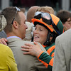 Caption:   Rosie in winners circle<br /> Believe You Can with Rosie Napravnik wins the Kentucky Oaks (gr. I)<br /> Kentucky Derby and Kentucky Oaks contenders on the track at Churchill Downs near Louisville, Ky. on May 3, 2012.<br /> Oaks1  image622<br /> PHoto by Anne M. Eberhardt
