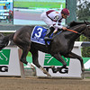 Royal Delta, Mike Smith up, winning the Gr1 Beldame Invitational at Belmont...<br /> © 2012 Rick Samuels/The Blood-Horse