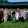 Caption: Groupie Doll presentation, Fred Bradley in brown hat and walker<br /> Wise Dan with Jose Lezcano up wins the Shadwell Turf Mile (gr. I) at Keeneland on Oct. 6, 2012.<br /> Keeneland<br /> ShadwellTurfMile2  image 178<br /> Photo by Anne M. Eberhardt