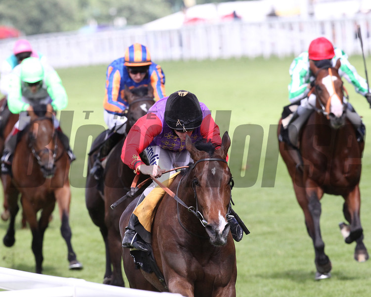 Royal Ascot 2012, 6/22/12, photo by Trevor Jones Ascot Race Course;  Estimate, Ryan Moore up, wins the Queens Vase Stakes,