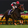 Curren Black Hill wins the NHK Mile Cup.<br /> Photo by Kate Hunter
