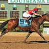 9/8/2012  -  Bourbon Courage with jockey Leandro Goncalves up wins the 33rd running of the Grade II $500,000 Super Derby at Louisiana Downs.<br /> Photo by: Hodges Photography / Lou Hodges, Jr.