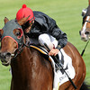 Keeneland Race Course; Lexington; KY 4/27/12; Point of Entry, John Velazquez up,  wins the Elkhorn Stakes<br /> photo by Mathea Kelley