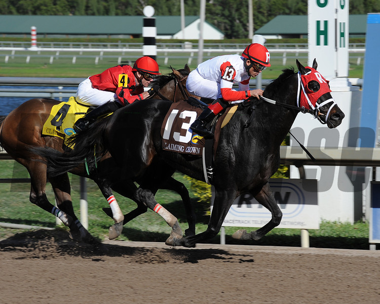Brother Bird wins the 2012 Claiming Crown Iron Horse.<br /> Coglianese Photos