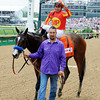 Contested wins the 2012 Eight Belles.<br /> Photo by Dave Harmon.