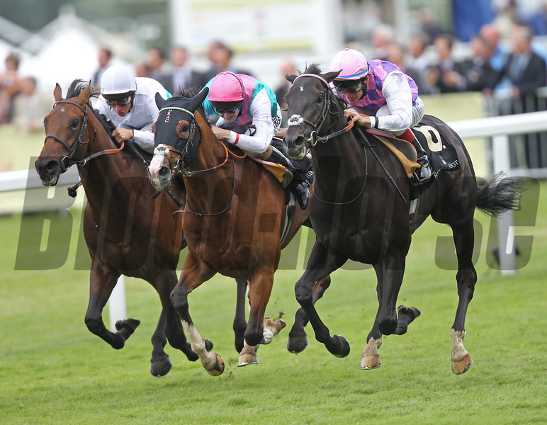 Thomas Chippendale wins the King Edward the VII Stakes at Royal Ascot.<br /> Photo by Trevor Jones