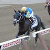 Shanghai Bobby wins the Hopeful Stakes at Saratoga.<br /> Photo by Adam Coglianese