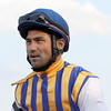Corey Nakatani in the George Bolton Silks at Parx on September 22, 2012.<br /> Photo by Chad B. Harmon