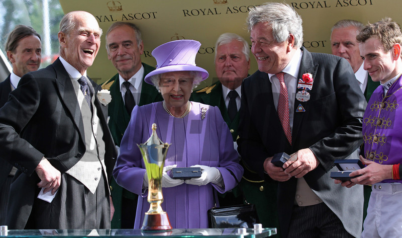 The Queen at Royal Ascot<br /> Photo by Trevor Jones