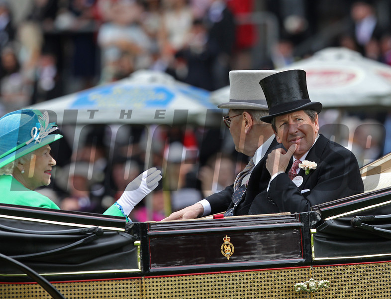John Warren and The Queen at Royal Ascot.<br /> Photo by Trevor Jones