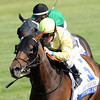 Keeneland Race Course; Lexington; KY 4/26/12 photo by Mathea Kelley; Upperline, James Graham up, wins the Bewitch Stakes.