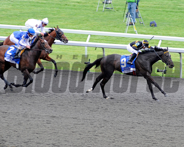 Caption:  <br /> All Squared Away with Julio Garcia up wins the Coolmore Lexington Stakes (gr. III) at Keeneland on April 21, 2012, in Lexington, Ky.<br /> Lexington Origs1 image903<br /> PHoto by Anne M. Eberhardt