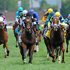Great Attack (black cap), Joel Rosario up, wins the G3 Twin Spires Turf Sprint at Churchill Downs...<br /> © 2012 Rick Samuels/The Blood-Horse