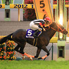 Curren Black Hill wins the NHK Mile Cup.<br /> Photo by Naoji Inada