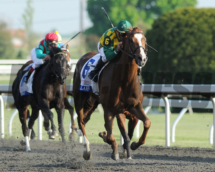 Keeneland Race Course; Lexington; KY 4/14/12 Dullahan in the Toyota Blue Grass Stakes.<br /> Photo by Mathea Kelley