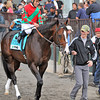 Flat Out, Joel Rosario up...<br /> © 2012 Rick Samuels/The Blood-Horse