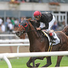 Point of Entry wins the 2012 Joe Hirsch Turf Classic Invitational at Belmont Park.<br /> Coglianese Photos/Adam Mooshian