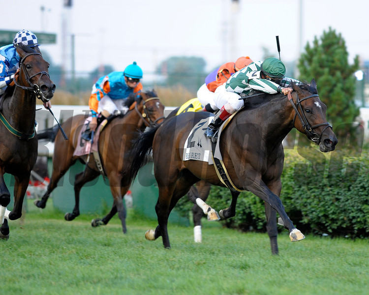 Caption: <br /> Centre Court with Javier Castellano up wins the Regret (gr. III)  at Churchill Downs on June 16, 2012, near Louisville, Ky.<br /> MattWinn image<br /> Anne M. Eberhardt photo