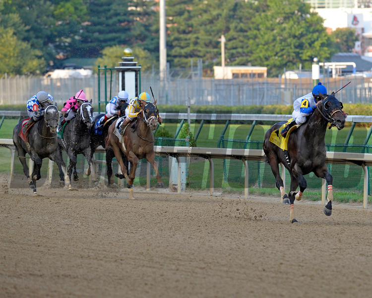 Caption: taking commanding lead midstretch<br /> Neck 'n Neck with Leandro Goncalves wins the Matt Winn (gr. III)  at Churchill Downs on June 16, 2012, near Louisville, Ky.<br /> Anne M. Eberhardt photo