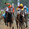 Believe You Can, Rosie Napravnik up, holds off Broadway's Alibi, to win the Gr1 Kentucky Oaks at Churchill Downs...<br /> © 2012 Rick Samuels/The Blood-Horse