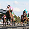 In Lingerie, John Velazquez up, wins the Juddmonte Spinster Stakes, Keeneland Race Track, Lexington, KY 10/7/12 photo by Mathea Kelley
