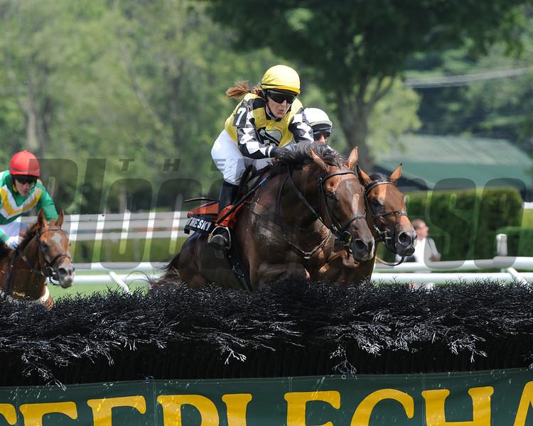 Spy in the Sky wins the 2012 A.P. Smithwick Memorial Handicap (NSA- I) Aug. 2 at Saratoga Race Course.<br /> Coglianese Photos