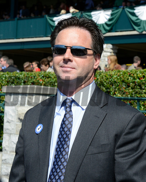 Caption: Bret Calhoun<br /> Scenes at Keeneland on Oct. 6, 2012.<br /> Keeneland<br /> FourthRace10_6_12 image156<br /> Photo by Anne M. Eberhardt