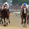 Shackleford, Jesus Castanon up (inside) wins the Gr2 Churchill Downs over Amazombie...<br /> © 2012 Rick Samuels/The Blood-Horse
