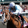 Gal About Town, Jesus Castanon, wins at 2yr old Allowance, Keeneland Race Track; Lexington; KY 10/6/12 photo by Mathea Kelley