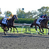 Caption: <br /> Joha with Rajiv Maragh up wins the Dixiana Breeders' Futurity (gr. I) at Keeneland on Oct. 6, 2012.<br /> Keeneland<br /> ShadwellTurfMile1  image765<br /> Photo by Anne M. Eberhardt
