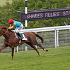 Goodwood August 2, 2012 The iShares Fillies Stakes. Wild Coco wins from Estimate and Hawaafez (obscured)<br /> Photo by: Trevor Jones