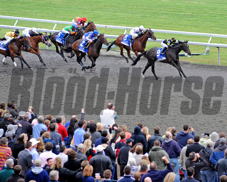 Caption:  <br /> All Squared Away with Julio Garcia up wins the Coolmore Lexington Stakes (gr. III) at Keeneland on April 21, 2012, in Lexington, Ky.<br /> Lexington Origs1 image896<br /> PHoto by Anne M. Eberhardt