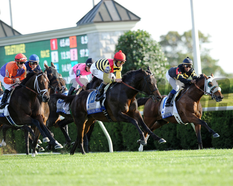 Wise Dan, Jose Lezcano up, wins the Shadwell Turf Mile, Keeneland Race Track; Lexington; KY 10/6/12 photo by Mathea Kelley, FIrst time by SIlver Max