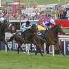 Was (purple) wins the Oaks from Shirocco Star (black/white), Epsom 01/06/12<br /> Photo by Trevor Jones