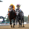 Dreaming of Julia wins the 2012 Frizette Stakes.<br /> Coglianese Photos