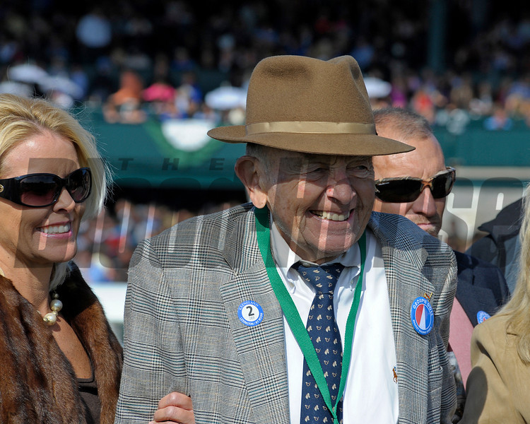 Caption: Fred Bradley, co-owner of Groupie Doll<br /> Race 6 Thoroughbred Club of America and prior scenes. Scenes at Keeneland on Oct. 6, 2012.<br /> Keeneland<br /> RAce6andPrior10_6_12  image621<br /> Photo by Anne M. Eberhardt