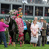 Caption:  l-r, Rosie, Mr. and Mrs. Brereton  (Libby) Jones, Larry Jones<br />  Believe You Can with Rosie Napravnik wins the Kentucky Oaks (gr. I)<br /> Kentucky Derby and Kentucky Oaks contenders on the track at Churchill Downs near Louisville, Ky. on May 3, 2012.<br /> Oaks1  image611<br /> PHoto by Anne M. Eberhardt