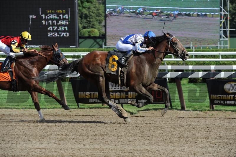 Cease, Allowance win at Saratoga, July 25, 2012.<br /> Coglianese Photos