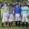 Prior to the 43rd Running of the Cotillion Stakes (GI) at Parx jockeys Ramon Dominguez, Corey Nakatani, Irad Ortiz Jr,. & Rajiv Maragh pose in the paddock on September 22, 2012.<br /> Photo by Chad B. Harmon