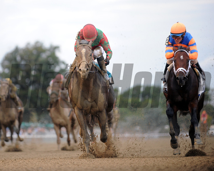 Flat Out wins the 2012 Jockey Club Gold Cup.<br /> Coglianese Photos